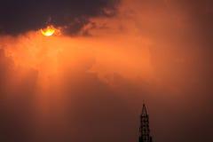 Stormachtig de zomersilhouet Royalty-vrije Stock Afbeeldingen