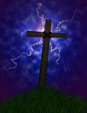 Stormachtig kruis Stock Foto's