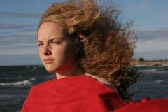 Stormachtig meisje Stock Afbeeldingen