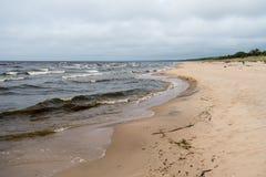 Stormachtig overzees landschap Stock Fotografie