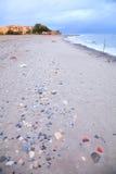 Stormachtig strand in Kreta, Griekenland Stock Fotografie