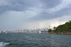 Stormachtig Sydney Royalty-vrije Stock Foto's
