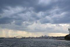 Stormachtig Sydney Royalty-vrije Stock Afbeeldingen