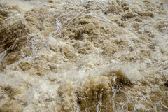 Stormachtig water Stock Fotografie