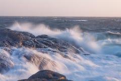 Stormachtig water Royalty-vrije Stock Fotografie