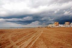 Stormachtig weer in Cadiz Stock Fotografie