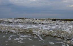 Stormachtig weer in de Zwarte Zee Royalty-vrije Stock Foto