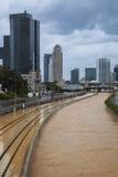 Stormachtig Weer in Tel Aviv Royalty-vrije Stock Afbeeldingen