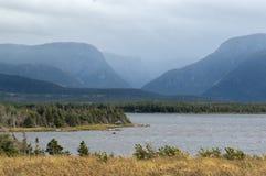 Stormachtig weer in Westelijke Beek Newfoundland royalty-vrije stock fotografie