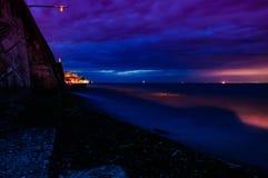 Stormachtige Avondkust Stock Fotografie