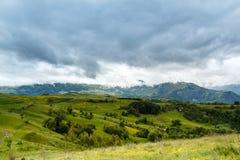 Stormachtige bergen Royalty-vrije Stock Afbeelding