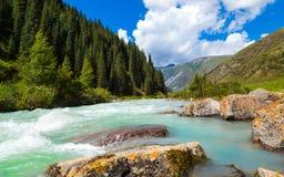 Stormachtige bergrivier Royalty-vrije Stock Foto