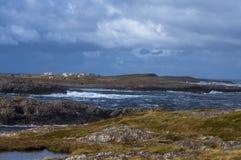 Stormachtige dag bij het eiland Stock Fotografie