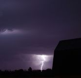 Stormachtige de Zomeravond Royalty-vrije Stock Fotografie