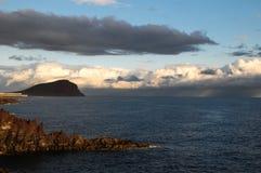 Stormachtige donkere wolken Stock Foto's