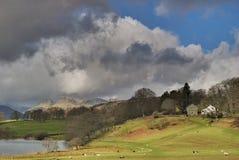 Stormachtige hemelen over Langdale Royalty-vrije Stock Afbeelding