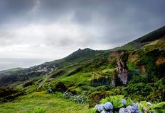 Stormachtige heuvels Royalty-vrije Stock Afbeeldingen