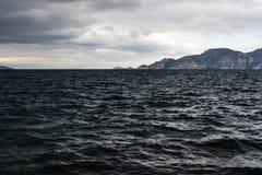 Stormachtige Kust - de Zwarte Zee Stock Foto