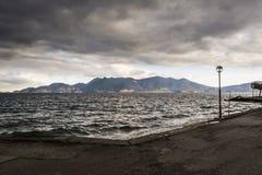 Stormachtige Kust - de Zwarte Zee Stock Afbeelding