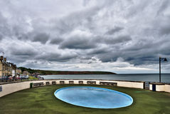 Stormachtige kustscène Royalty-vrije Stock Fotografie