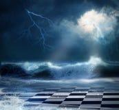 Stormachtige nacht royalty-vrije stock afbeelding