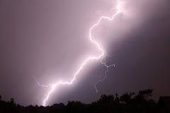 Stormachtige nacht Royalty-vrije Stock Afbeeldingen