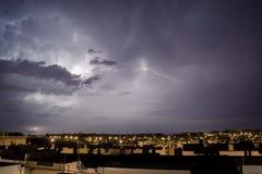 Stormachtige nacht in Echte Puerto Stock Fotografie