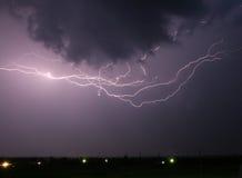 Stormachtige nachthemel Stock Afbeelding