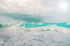 Stormachtige oceaan Stock Foto