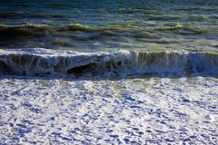 Stormachtige overzees Stock Foto's