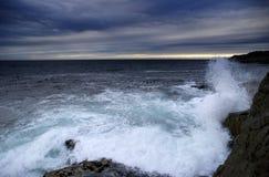 Stormachtige overzees Stock Foto