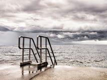 Stormachtige overzees Stock Afbeelding