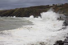 Stormachtige overzees bij Schil het Eiland Man Stock Afbeeldingen