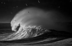 Stormachtige Sepia Overzees royalty-vrije stock afbeelding