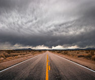Stormachtige Weg Royalty-vrije Stock Foto