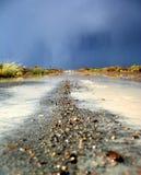 Stormachtige weg Stock Foto's