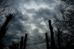 Stormachtige wolken. royalty-vrije stock fotografie