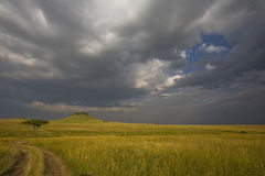 Stormachtige wolken in Mara royalty-vrije stock foto