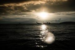 Stormachtige zonsondergang Royalty-vrije Stock Foto's