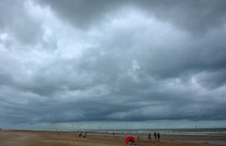 Stormclouds at the belgian northsea Stock Photography