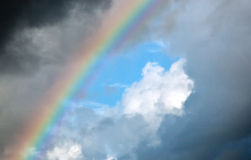 Stormclouds and rainbow Royalty Free Stock Images