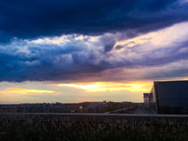 Stormclouds and sunset Royalty Free Stock Photo