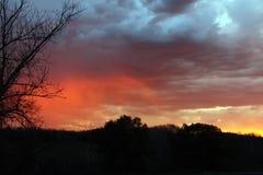 Stormcouds на восходе солнца Стоковое Изображение RF