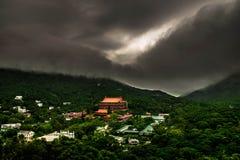 Stormen älskar Hong Kong Arkivfoto