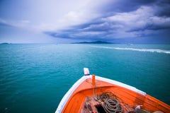 Stormen är den kommande ön arkivbild