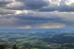 Stormen över den sagolika dalen Arkivfoto