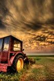Stormen fördunklar Saskatchewan Royaltyfria Bilder