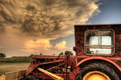 Stormen fördunklar Saskatchewan Royaltyfria Foton