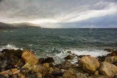 Stormen kommer Arkivfoto