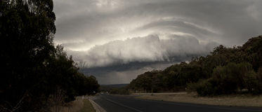 Stormen på vildmark av New South Wales Arkivbilder